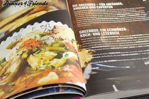 Das Greenbox-Kochbuch lädt einfach dazu ein, darin zu blättern, zu lesen und zu schmökern.