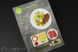 Mit der Anleitung von HelloFresh kann jeder ein rosagebratenes Rindersteak mit Kartoffel-Gurkensalat auf den Teller bekommen.
