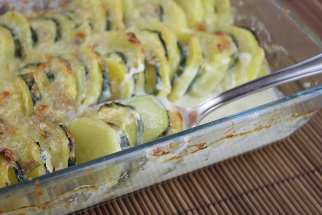 Kartoffelgratin mit Zucchini
