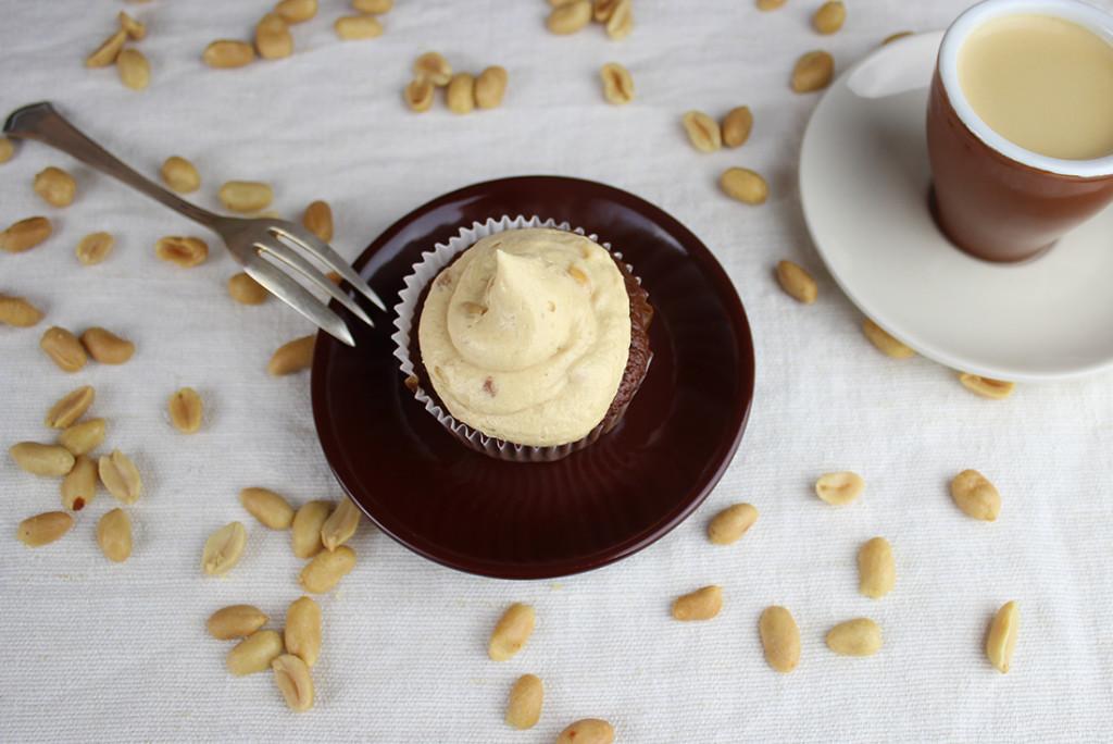 Erdnussbutter-Muffins: mit Schokolade und schön cremig!, also perfekt zum Kaffee