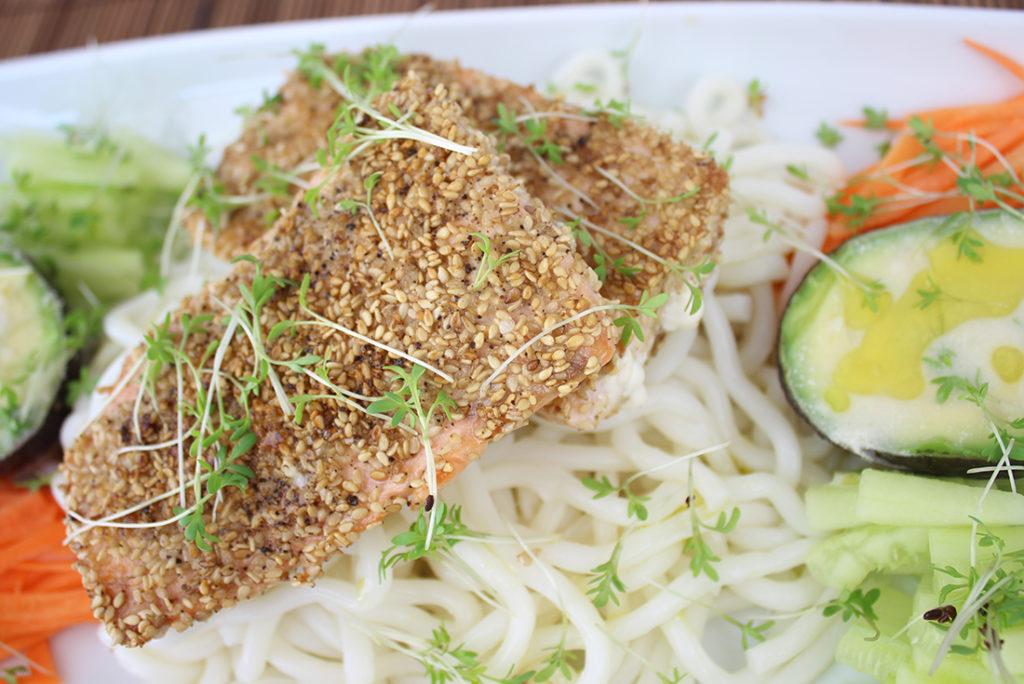 Einfach, schnell, lecker: Sesam-Lachs