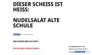 Auf www.scheissewaskocheichheute.de findet man sein Koch-Glück.